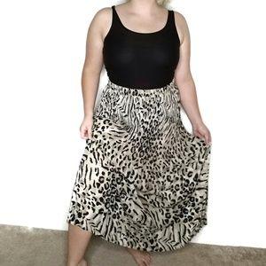 Leopard Animal Print Maxi Dress Medium Stretchy